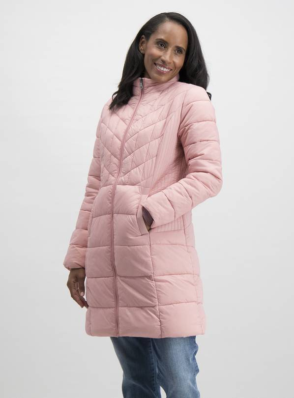 Online Exclusive Pink Longline Padded Coat In A Bag - 20