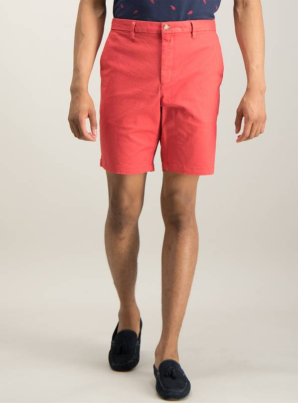 Red Chino Shorts With Stretch - 30