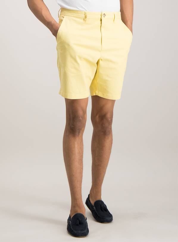 Online Exclusive Yellow Chino Shorts With Stretch - 46