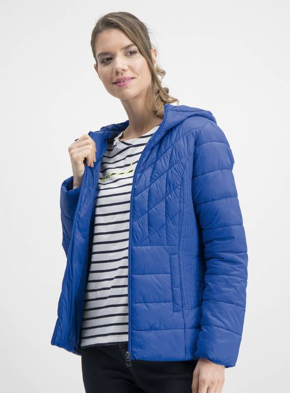 Online Exclusive Blue Short Padded Coat In A Bag - 18