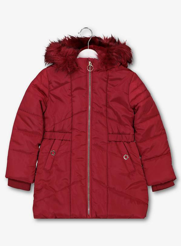 Red Padded Coat - 5-6 years