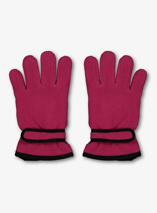 THINSULATE Pink Fleece Gloves - 1-2 years