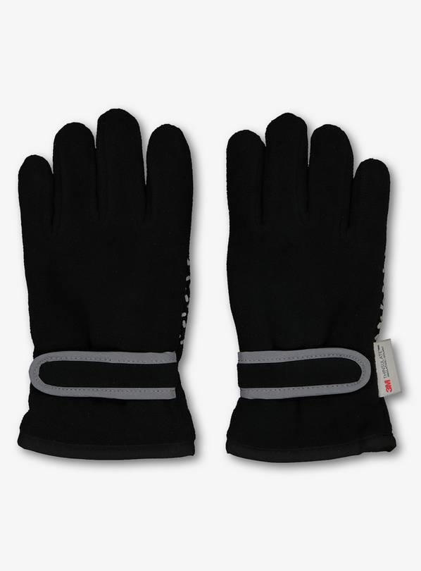THINSULATE Black Fleece Gloves - 6-9 years
