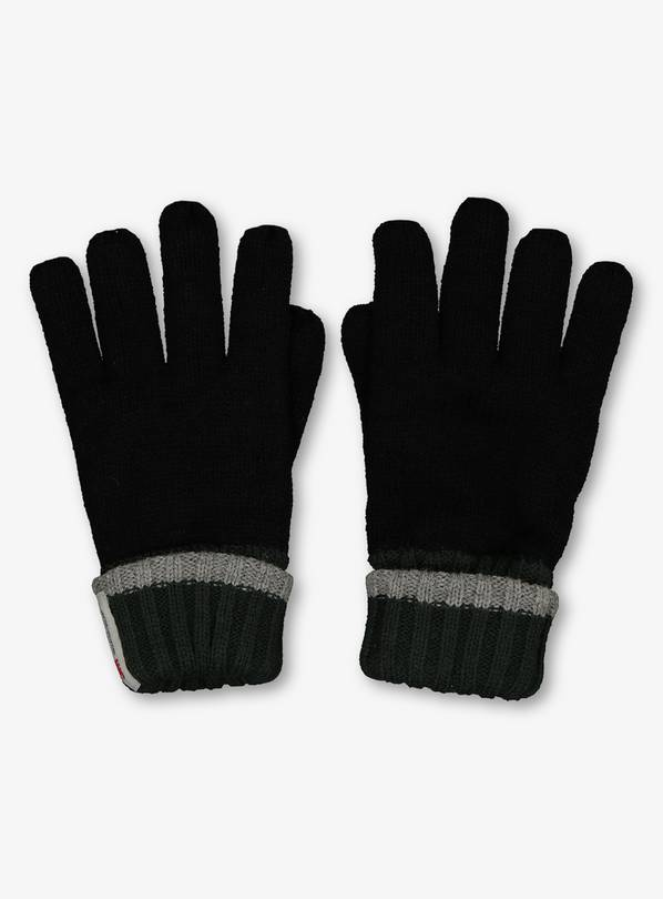 THINSULATE Black Knitted Gloves - 1-2 years