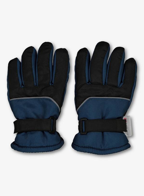THINSULATE Black & Blue Snow Gloves - 1-2 years