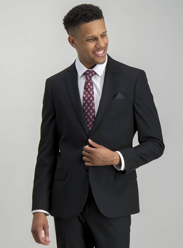 Black Slim Fit Suit Jacket - 48S