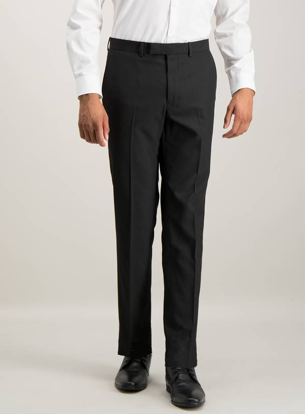 Black Slim Fit Suit Trousers - W46 L31
