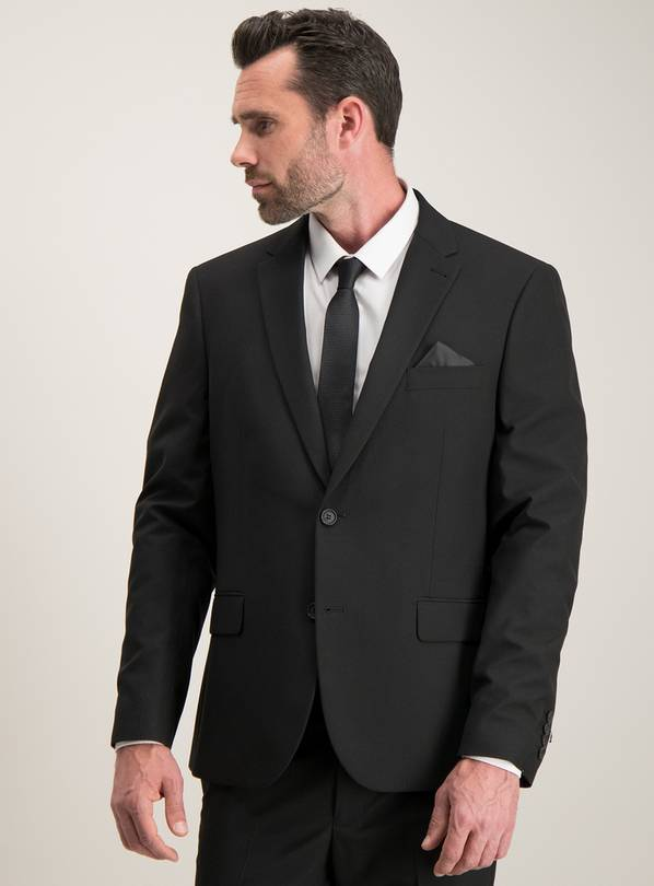 Black Tailored Fit Suit Jacket - 38S