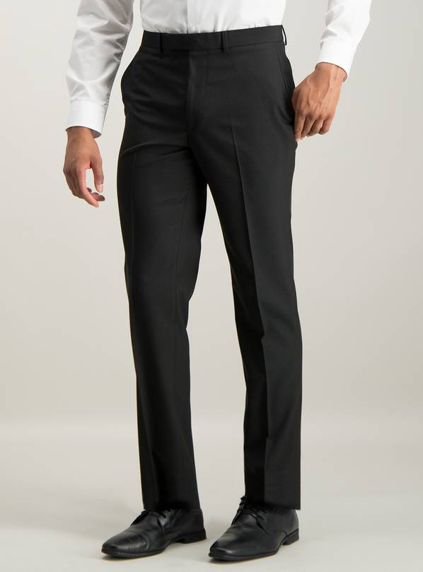 Online Exclusive Black Tailored Fit Suit Trousers - W44 L33