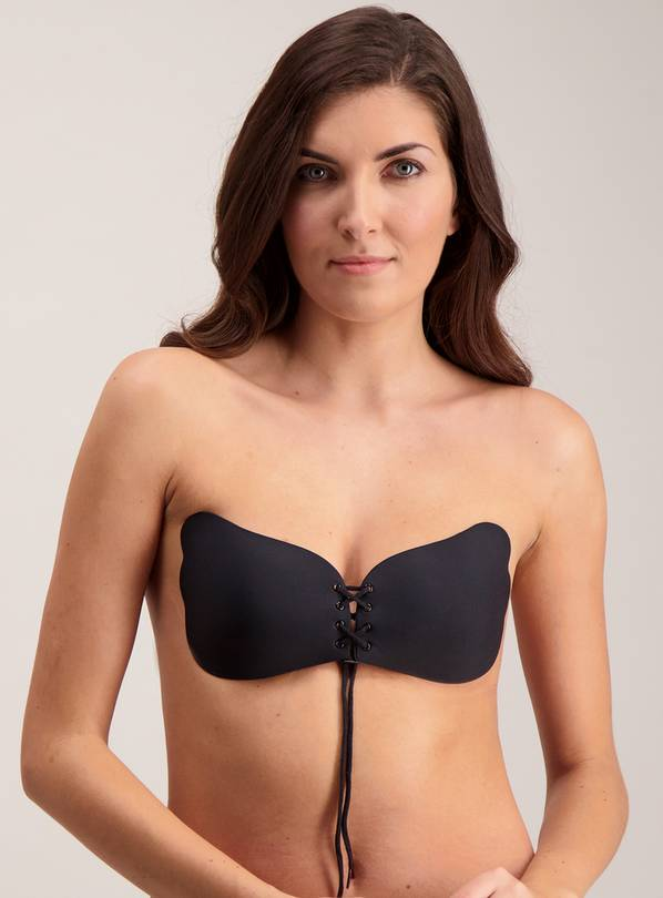 PERFECTION Black Secret Push Up Lace Bra - Size E