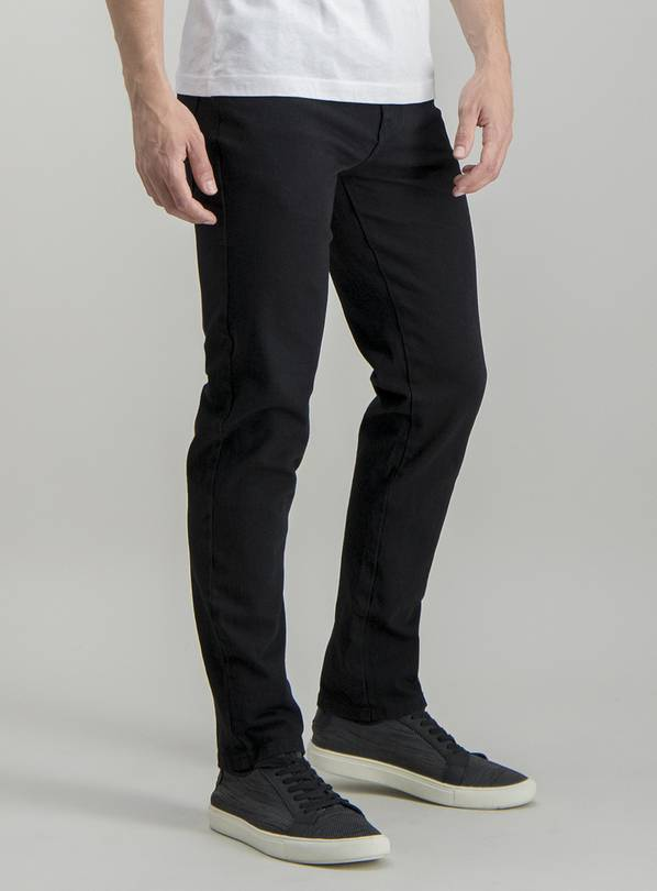 Black Wash Slim Fit 4 Way Stretch Jeans - W38 L34