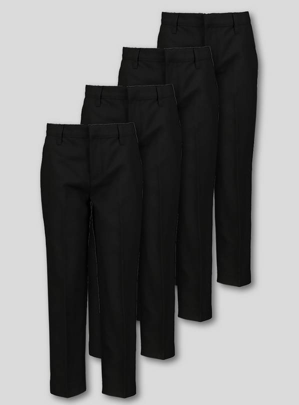 Black School Trousers 4 Pack - 9 years