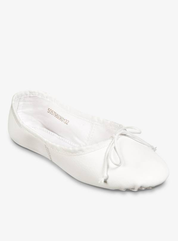 White Ballet Shoes In Mesh Bag - 7 Infant