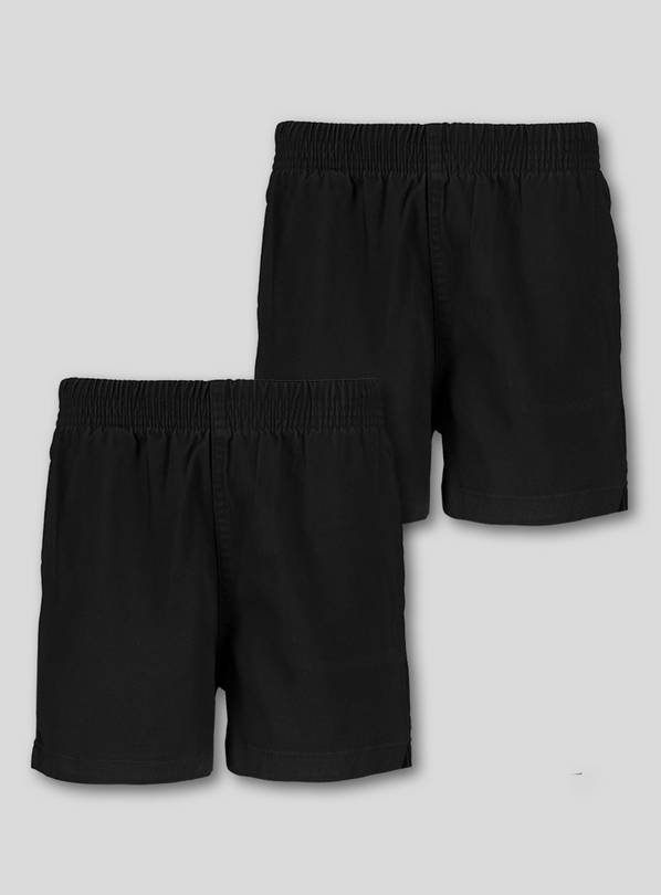 Black Woven Rugby Shorts 2 Pack - 3 years