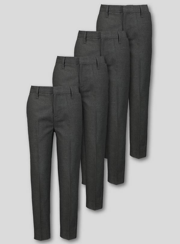 Grey Skinny Fit Trousers 4 Pack - 6 years