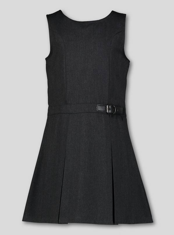 Grey Buckle Detail Pinafore - 11 years