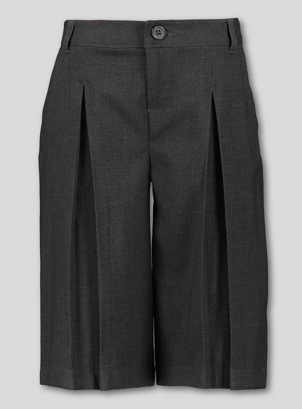 Grey Long Culotte Trousers - 11 years