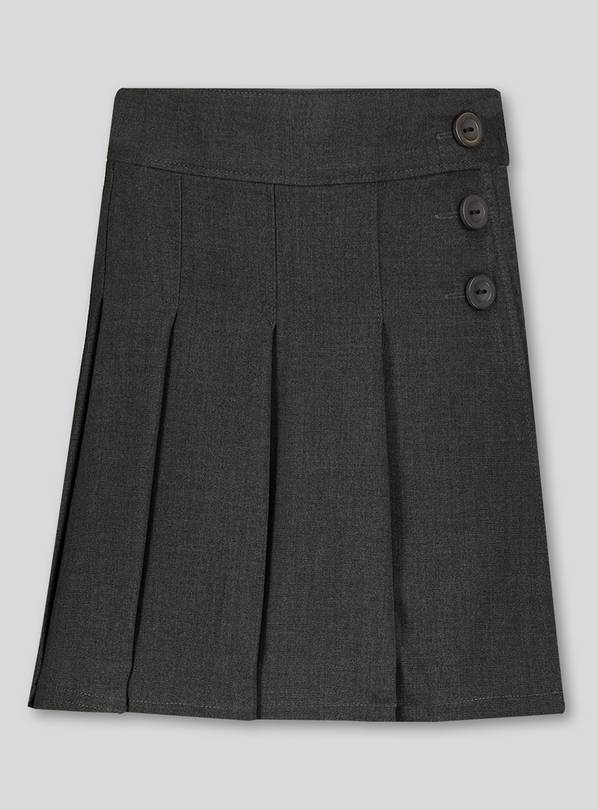 Grey Pleated Skort - 6 years