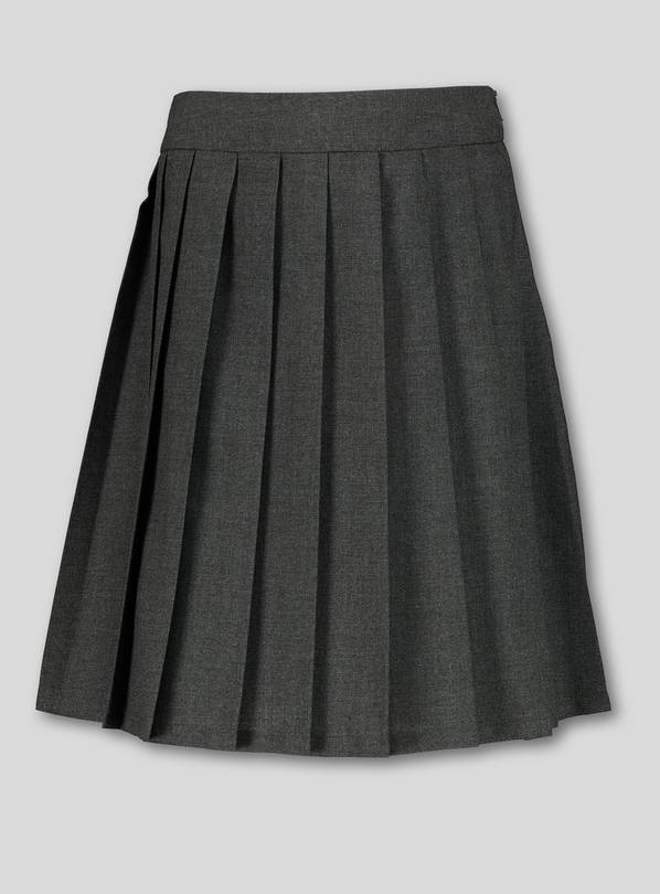 Grey Permanent Pleat Skirt - 11 years