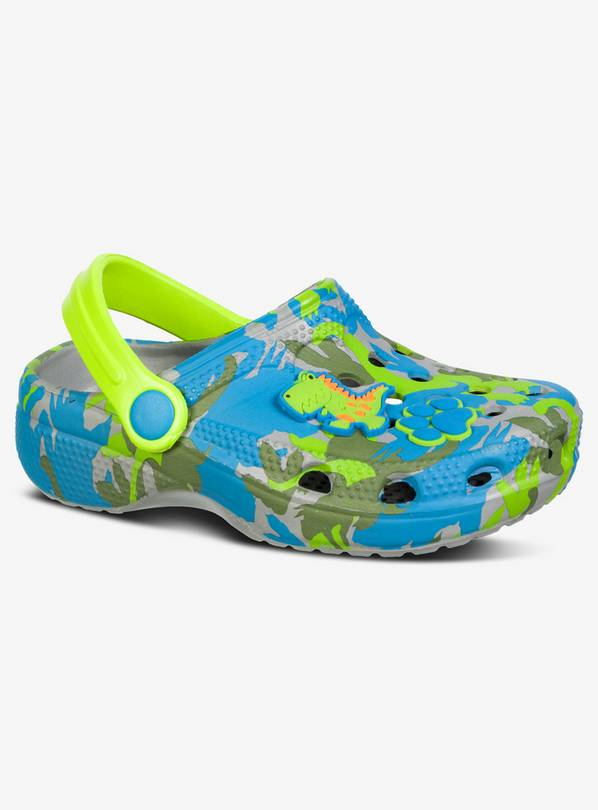 Camouflage Dinosaur Clogs - 6-7 Infant