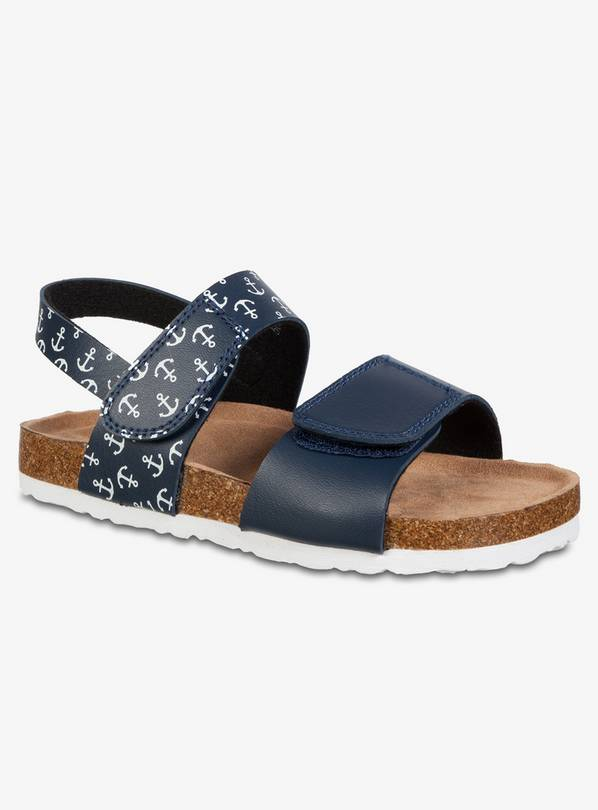 Navy Anchor Sandals - 8 Infant