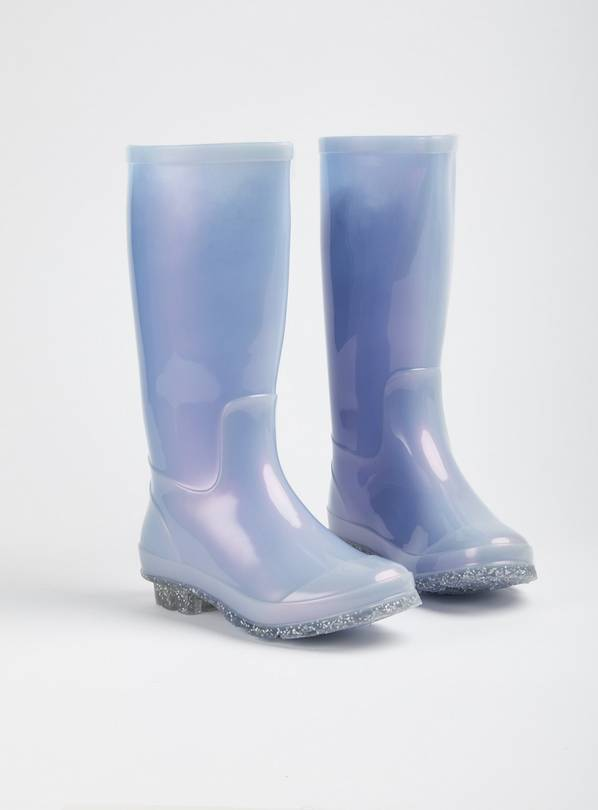 Lilac Iridescent Glitter Sole Wellies - 9 Infant