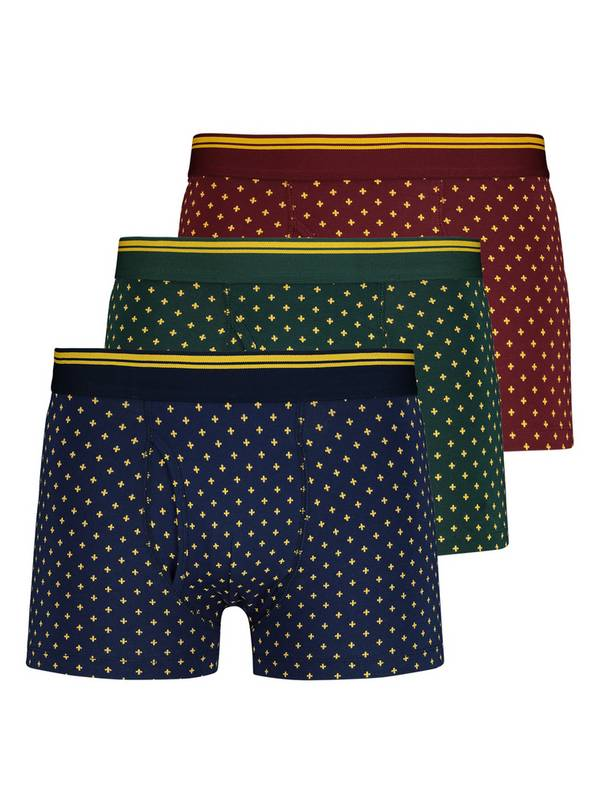 Multicoloured Highland Fleur de Lys Trunks 3 Pack - M