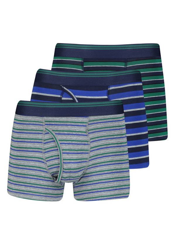 Multicoloured Rugby Stripe Trunk 3 Pack - XL