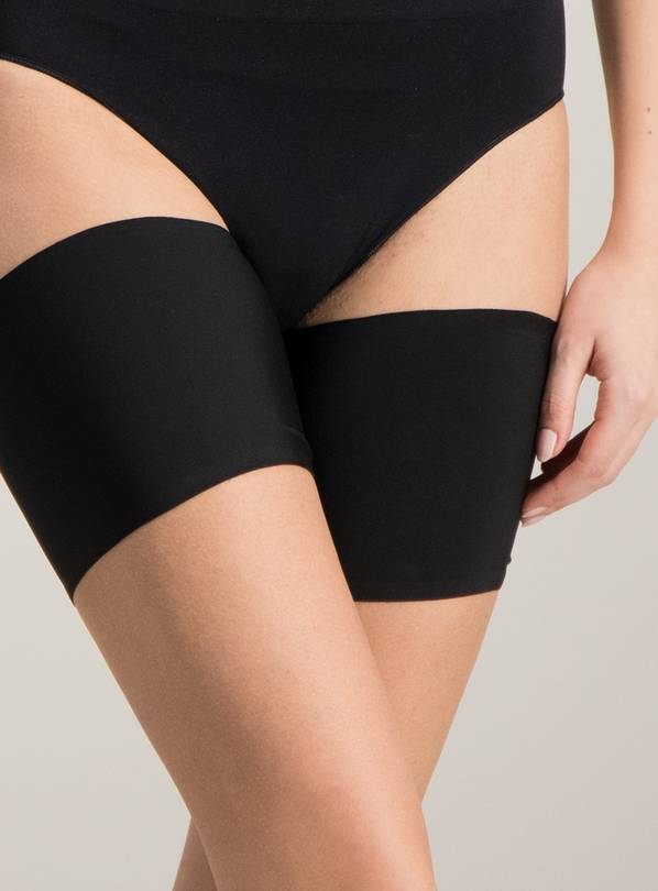 Black Anti Chafing Thigh Bands 2 Pack - S/M