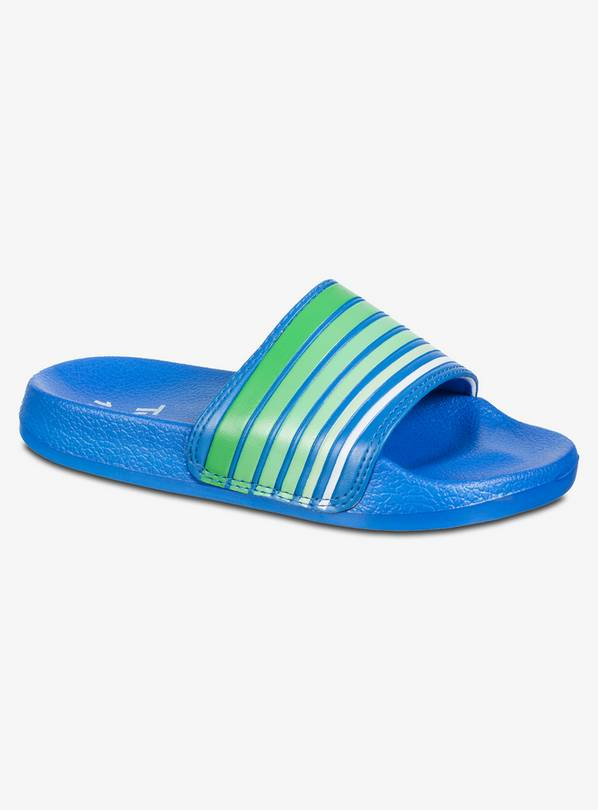 Blue & Green Striped Sliders - 11 Infant