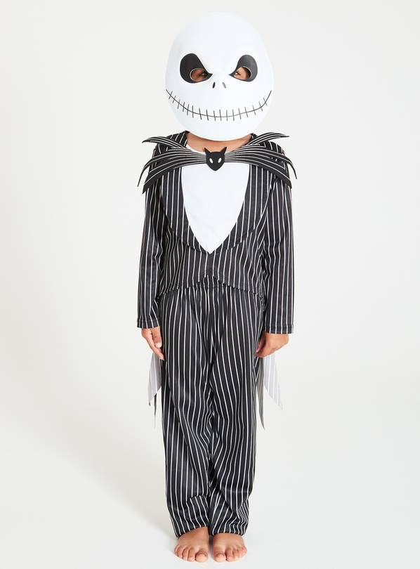 Disney Jack Skellington Black Costume & Mask - 11-12 years