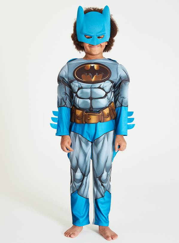 Batman Blue & Grey All In One Costume - 5-6 years
