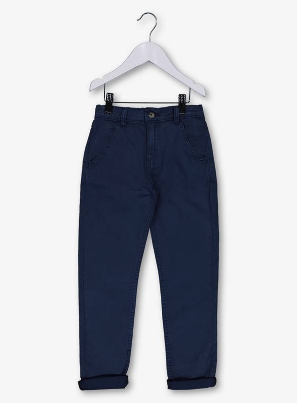 Navy Blue Chinos With Stretch - 14 years