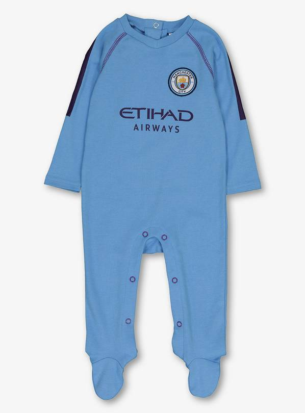 Man City Football Club Blue Sleepsuit - 12-18 months