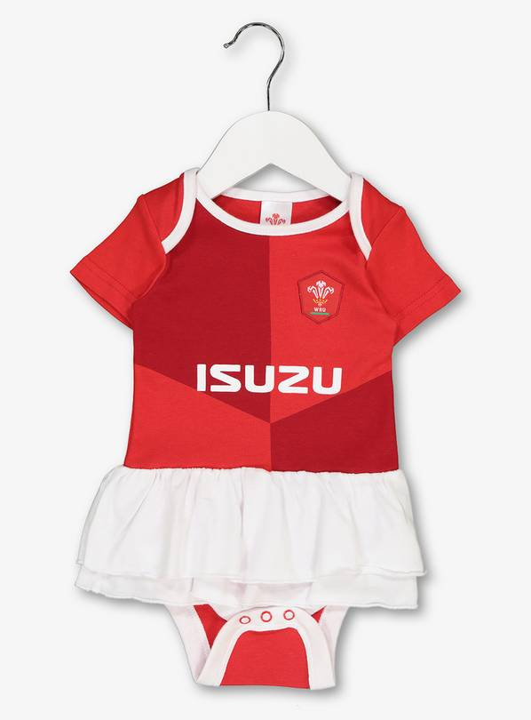 Welsh Rugby Red Tutu Bodysuit - 3-6 months