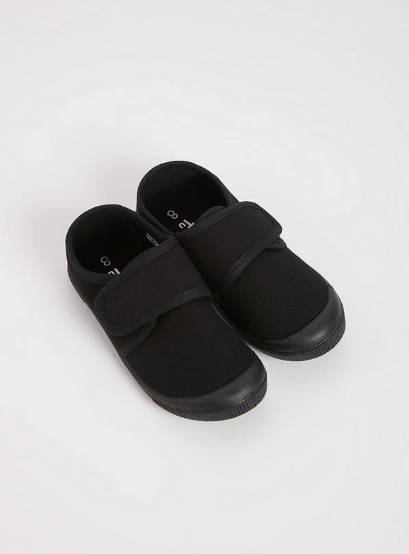 Black Touch And Close Plimsolls - 3