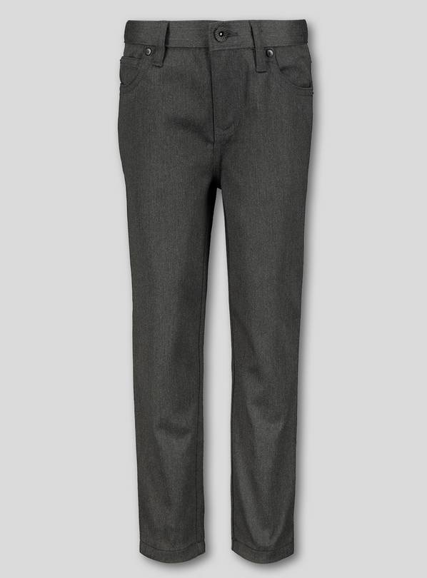 Grey Skinny Jean Style Trousers - 11 years