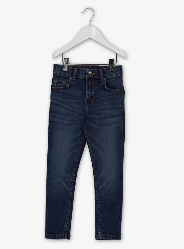 Blue Denim Mid Wash Skinny Fit Jeans - 13 years
