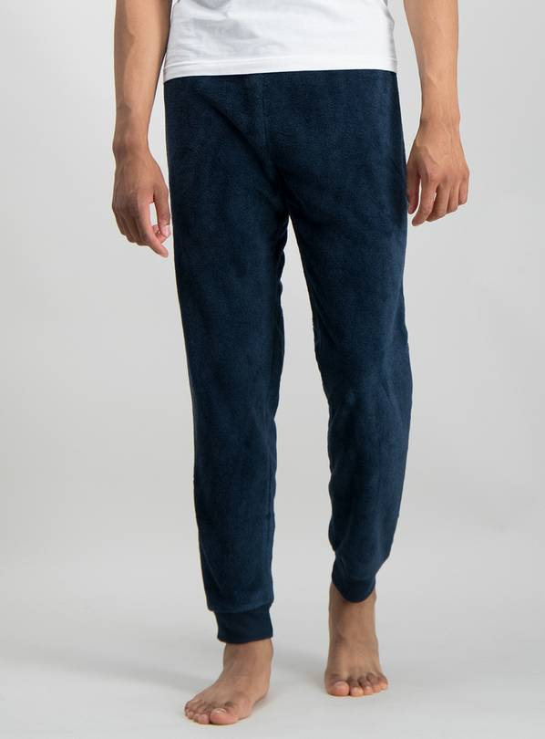 Navy Blue Fleece Joggers - S