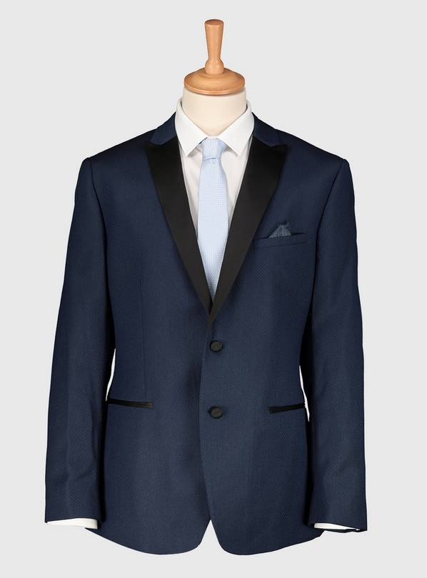 Online Exclusive Navy Skinny Fit Tuxedo Jacket - 50R