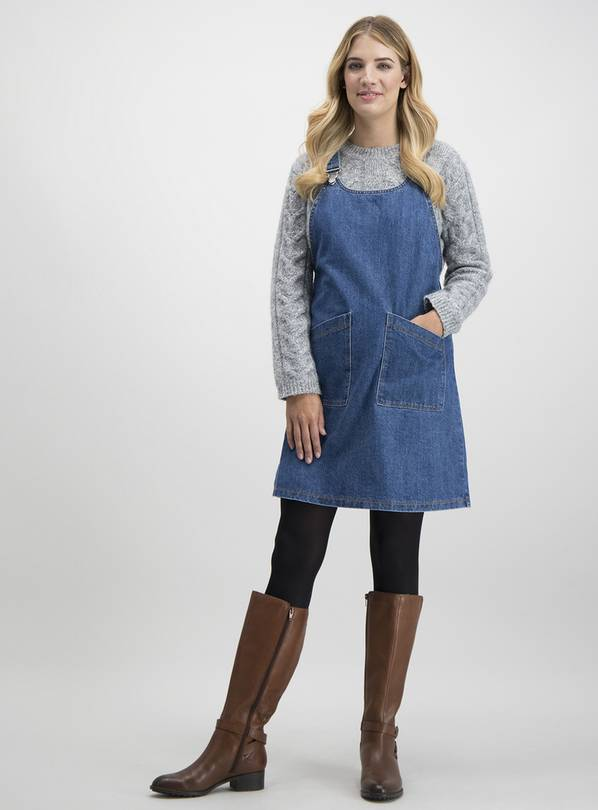 in stock numerousinvariety luxury fashion Buy Blue Denim Pinafore Dress - 22 | Dresses and jumpsuits | Argos