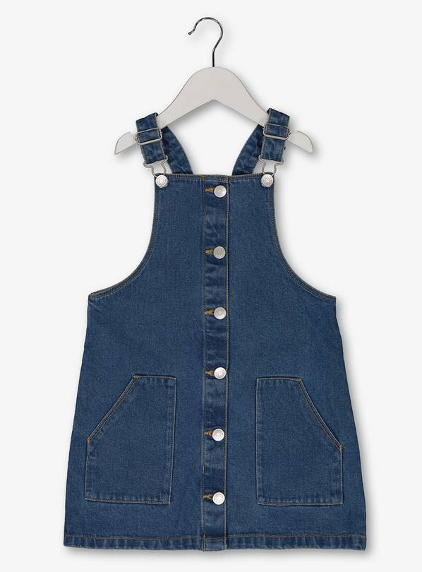 Blue Denim Pinafore - 4 years