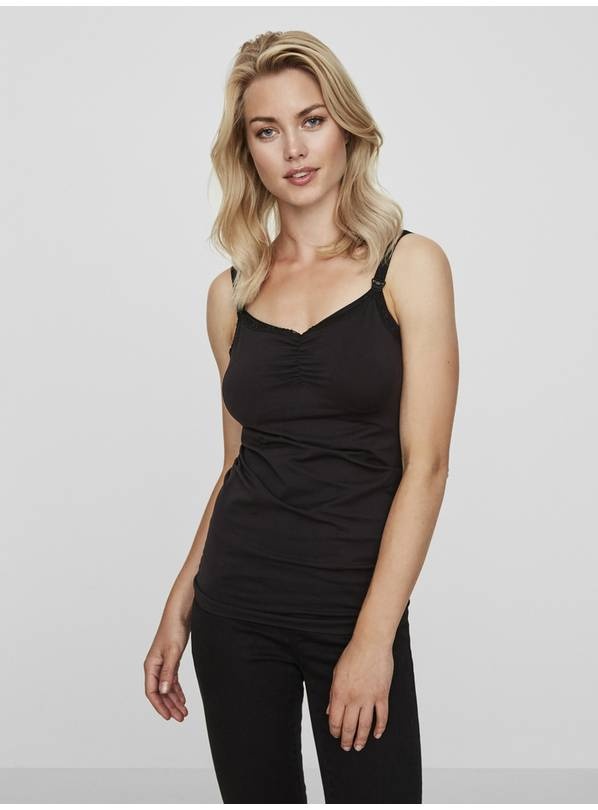 Nursing Black Camisole Top - S/M