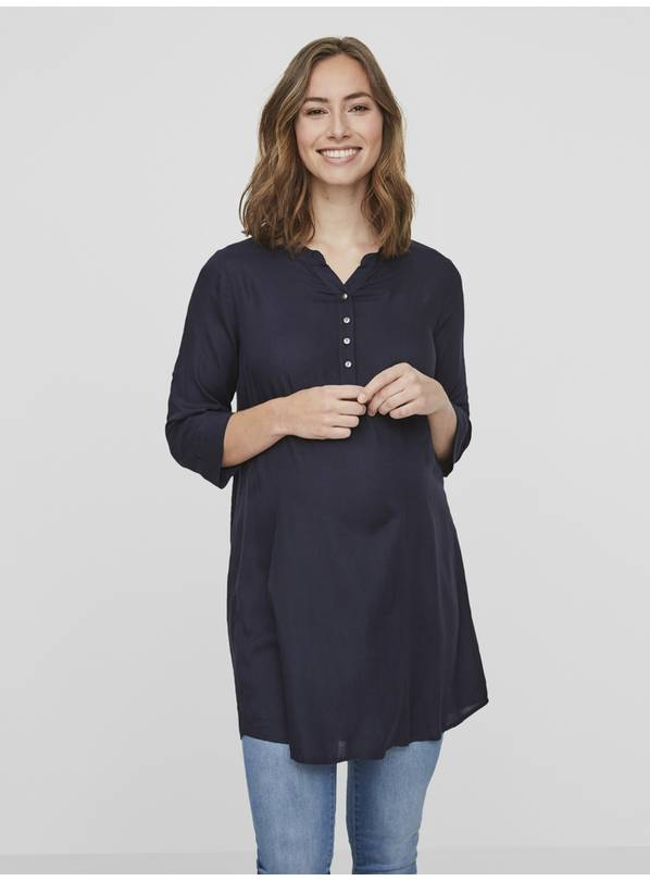MAMALICIOUS Maternity Navy Blue Tunic - XL