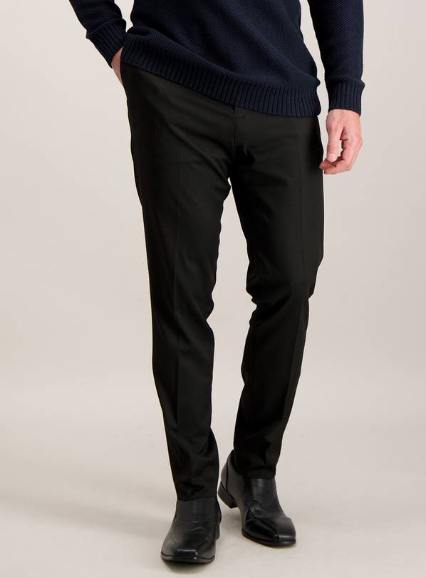 Online Exclusive Black Skinny Fit Stretch Trousers - W36 L35