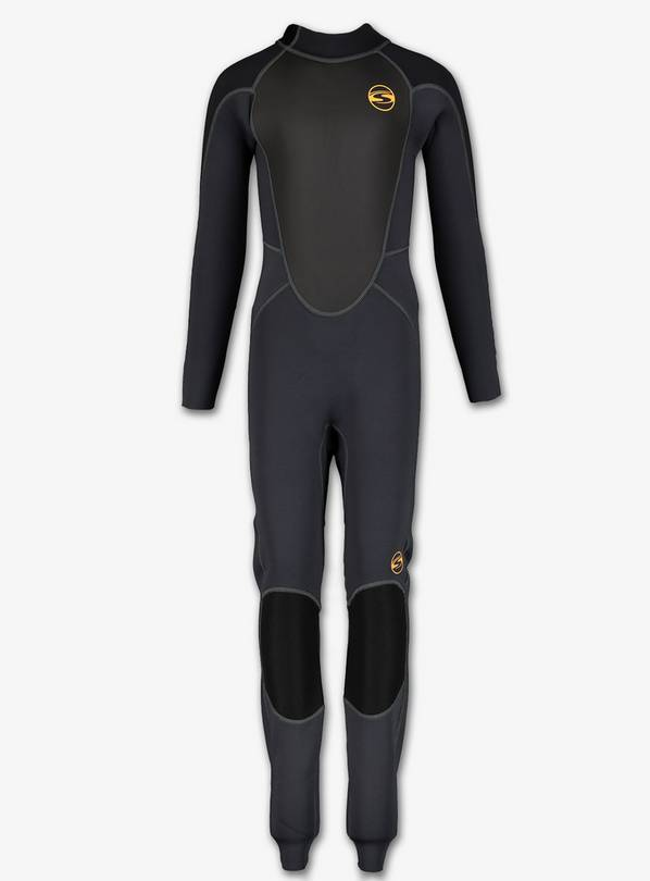 SOLA Black Storm 3/2 Long Leg Wetsuit - 5-6 years