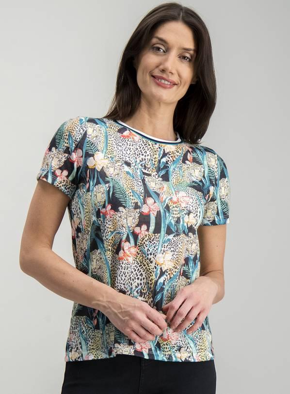 ac92d319 Buy Multicoloured Floral Animal Print Sports Trim T-shirt - 10 | T-shirts  ...