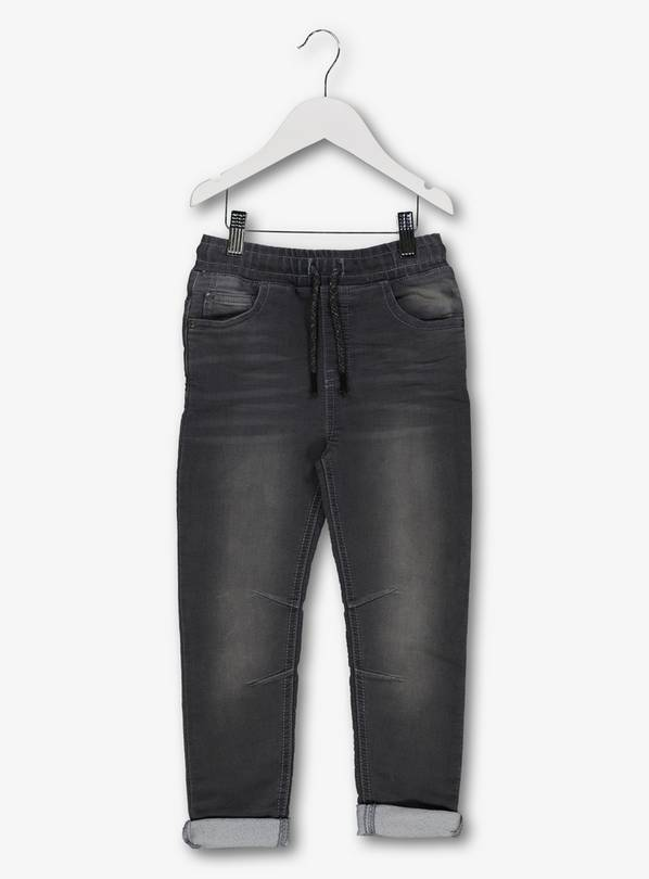 Black Soft Touch Tapered Jeans - 13 years