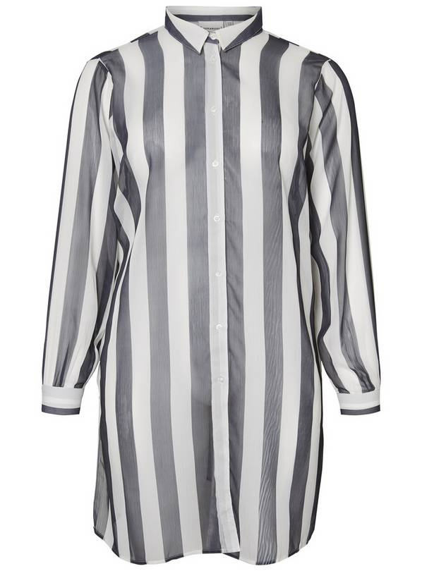 Black & White Striped Shirt - 16