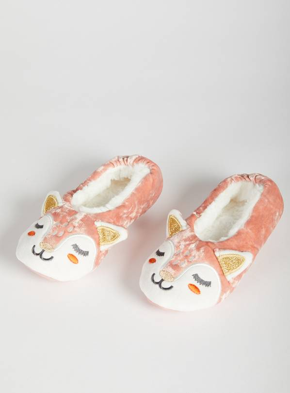 Pink Fawn Ballerina Slippers - 12-13 Infant